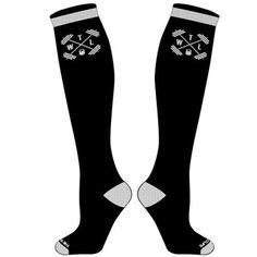 TWL High Performance - Hi-Top Socks - Black & White - $14.95