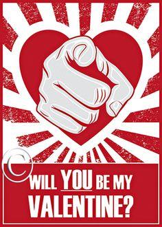 Manly I Want You Propaganda Style Valentine by DesignDivergent