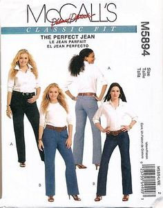 MCCALLS-SEWING-PATTERN-5894-WOMENS-SZ-18W-24W-PALMER-PLETSCH-CLASSIC-FIT-JEAN - MAYBE