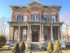 """The """"Grand Dame"""" of the village. Circa 1870's in need of someone who can see the possibilities. Come see it as it is and imagine how it could be. 4200 sq. ft. of living space, 3.5 baths, kitchen space with butler's pantry, original woodwork, staircase, doors, four marble fireplaces. Pool that could be brought back. Two car newer garage on 1.1 acres. The full attic and """"widows"""" peak are there as well."""