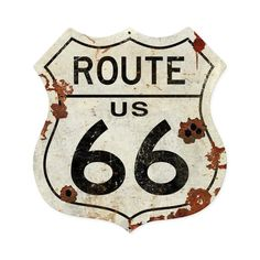 Route US 66 Shield Metal Sign