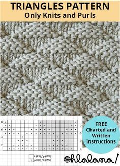 The new: TRIANGLES knitting pattern pattern knitting pattern . - The new one: TRIANGLES knitting pattern pattern pattern …, - Knitting Stiches, Knitting Blogs, Knitting Charts, Easy Knitting, Knitting For Beginners, Baby Knitting Patterns, Loom Knitting, Knitting Designs, Knitting Socks