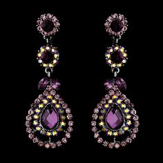 A beautiful set of sparkling crystal earrings featuring gorgeous Austrian crystals in a delicate silver setting. $39.95