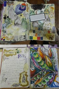 super pretty! the watercolours look awesome and i like all the different colours and the random,messy layout.