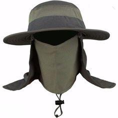 41388cc86ac Outdoor Sport Fishing Hiking Hat Uv Protection Face Neck Flap Man Sun Cap  Us