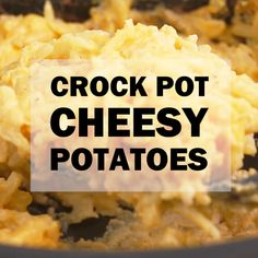 CrockPot Cheesy Potatoes Recipe - with video Crockpot cheesy potatoes are a classic dish for potlucks and holidays, made even easier by cooking them in the slow cooker. More room in the oven for more great food! Crockpot Potluck, Best Potluck Dishes, Crockpot Dishes, Crock Pot Slow Cooker, Crock Pot Cooking, Cooking Recipes, Food For Potluck, Easy Dishes For Potluck, Potluck Slow Cooker Recipes