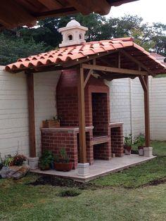 Barbecue Design 2020 – Can you use normal bricks for a BBQ - Home Ideas Backyard Kitchen, Outdoor Kitchen Design, Backyard Patio, Backyard Landscaping, Outdoor Kitchens, Outdoor Island, Outdoor Grill Station, Barbecue Design, Brick Bbq