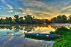 Dawn on the lake by Boris Frkovic, via 500px