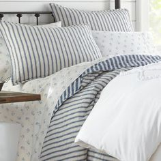Willow Way Ticking Stripe Quilt Set - Stone Cottage : Target Navy Quilt, Striped Quilt, Twin Quilt, Quilt Bedding, Striped Bedding, King Quilt Sets, Queen Quilt, Ruffle Quilt, Shabby Chic Material