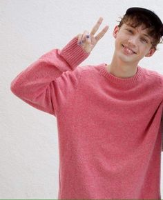 troye being cute + look at his nails!