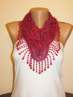 A personal favorite from my Etsy shop https://www.etsy.com/listing/179620958/solid-red-scarfwomens
