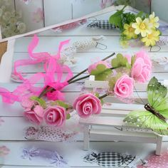 2015 New Women Bohemian Rose Flower headband Girl Wreath Party Wedding Floral with Ribbon Adjustable Hair Accessories Headband | Mas Barato