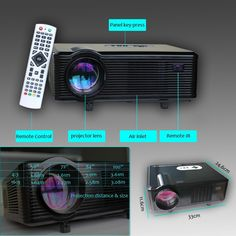 3000 lumens HD LED projectors with hdmi ports, Speakers,3d movie [SKU#CL720] - $245.00 : Rakeinme.com
