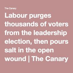 Labour purges thousands of voters from the leadership election, then pours salt in the open wound   The Canary