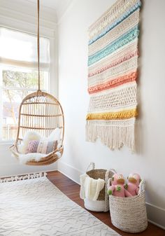 chair kids room girls bedroom ~ chair kids room - chair kids room girls bedroom - chair kids room playrooms - hanging chair kids room - chair for kids room - kids room swing chair - chair rail kids room - reading chair kids room Happy Room, Decoration Inspiration, Decor Ideas, Boho Living Room, Bohemian Living, Living Rooms, Swinging Chair, Little Girl Rooms, My New Room