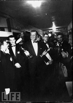 john wayne, 1952. It's great to see him so happy.