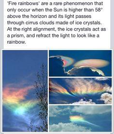 Rainbow clouds