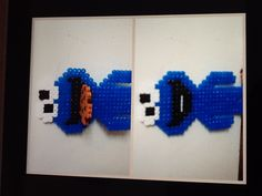 Cookie monster full size eating a cookie hama perler beads by Sofie Overmark Petersen