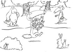 Fresh Coloriage Le Loup Auzoul Meublerc Free Prints, Easter Crafts, Clip Art, Stickers, Kids, Fictional Characters, Cycle 1, Images, Petite Section