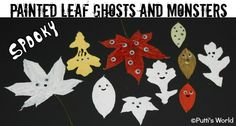 Painted Leaf Ghosts and Monsters
