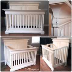 Nursery Crib refinished in CeCe Caldwells Paints Vintage White. Nursery Crib refinished in CeCe Cald Vintage Crib, Vintage Nursery, Vintage Decor, Nursery Crib, Girl Nursery, Baby Safe Paint, Painting A Crib, Wood Crib, Dresser Refinish