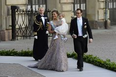 Hello:  Wedding of Princess Madeleine and Chris O'Neill-June 8, 2013-Crown Princess Victoria wearing Princess Lilian's Tiara with Princess Estelle and Prince Daniel
