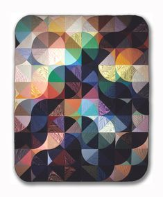 Moonshadow. Michael James Studio Quilts Selected work 1975 - 1984 assorted fabrics; hand-sewn