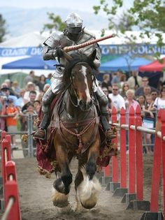 jousting at the renaissance faire in marin county, california, usa