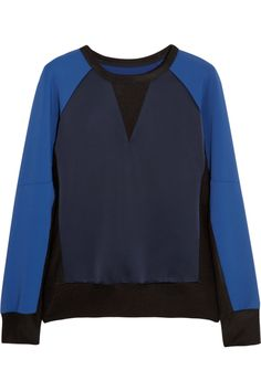 Rag & bone|Kent stretch-satin jersey sweatshirt|NET-A-PORTER.COM