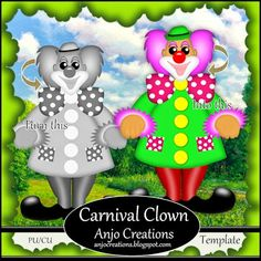 Anjo Creations: Carnival Clown Template