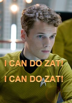 star trek || Chekov (also Kyle Reese from Terminator 4)