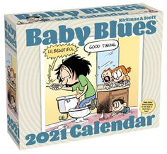 Each page of this calendar features a full-color strip from the award-winning Baby Blues comic that follows the MacPherson family of five as they discover that a movie is basically a $12 nap for Dad, not every animal show on TV is a family show, Zoe's version of The Golden Rule is do unto brothers before they do unto you. Relatable, family-friendly, this calendar makes a great gift for new and veteran parents and grandparents. #cartoon #calendar2021 #humor #funny #calendars #comicstrip #comics Funny Calendars, Desk Calendars, Baby Blues Comic, Family Show, Family Life, Family Of Five, 2021 Calendar, Baby Calendar, Family Humor