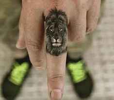 f6e6768cc Small Leo lion tattoo designs for guys Lion Tattoo On Finger, Lion Hand  Tattoo,