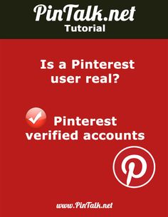 """Pinterest verified accounts How do you tell if a Pinterest board or account you are following really belongs to a certain public figure or brand? Like other major social media sites, Pinterest has Pinterest verified accounts. If a person or brand is verified as """"authentic,"""" then a red check mark appears next to their name …"""