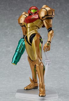 """All systems online and functioning normally."""" From the Nintendo Wii exclusive game """"Metroid Prime Corruption"""" comes a rerelease of the figma of the main character, Samus Aran! Using the smooth yet posab. Samus Aran, Metroid Samus, Metroid Prime 3, Black Ops, Anime Figures, Action Figures, Arm Cannon, Master Chief, Super Metroid"""