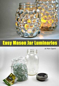 DIY Mason Jar Luminaries - DIY Mason Jar Lights - 74 Best Ideas to Light up Your Home - DIY & Crafts