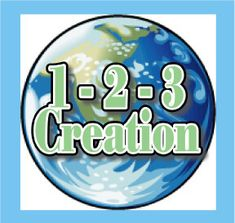 """The Scripture Lady loves creating Bible story games! Here is one called – 2 – 3 Creation!"""" to teach the seven days of creation. Creation Bible Lessons, 7 Days Of Creation, Bible Lessons For Kids, Bible For Kids, Genesis Creation, 4 Kids, Bible School Games, Bible Games, Bible Activities"""