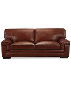 Myars Leather Sofa   Macys.com