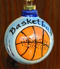 BASKETBALL Personalized Christmas Ornament Now in stock at Christmas in Blowing Rock. 1125 Main Street, Blowing Rock, NC 28605. 828-295-9696. Like our facebook page or check this out and order online www.aperfectpresent.com