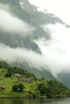 The misty fjords, Nærøyfjord / Norway (by George Goodman). - See more at: http://visitheworld.tumblr.com/#sthash.KC4r4Q1n.dpuf
