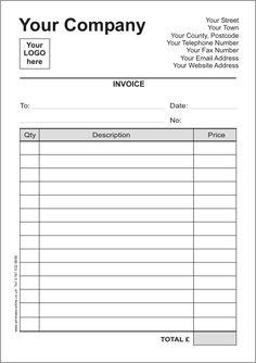 Clean Cut Excel Invoice Template  Invoice Templates