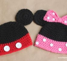 Mickey and Minnie Mouse Crochet Hats {Free Patterns}