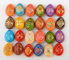 24 Wooden Ukrainian Pysanky Easter Painted Eggs. Egg. Pysanka. Highest quality! (art. 586) by StoreOfEmbroidery on Etsy https://www.etsy.com/listing/269956859/24-wooden-ukrainian-pysanky-easter