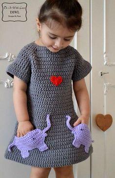 Vestido de Crochê Infantil: 60 Modelos e Gráficos Lindíssimos e Muito Fofos para Se Inspirar!