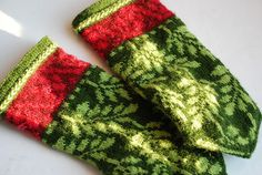 "Knit One, Poet Too ""Mittens inspired from Poetry in Stitches by Solveig Hisdal."""