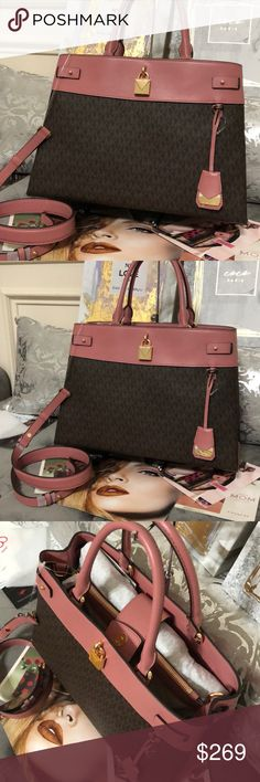 37b76ee8b3f6 NWT Michael Kors Gramercy Large Satchel Bag From MICHAEL Michael Kors, the Gramercy  Signature Snap