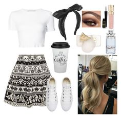 """""""Cutesy Wootsey"""" by musicalheartbeats on Polyvore featuring Alexander McQueen, Rosetta Getty, Converse, Maison Michel, Smith & Cult, Ashlyn'd and Cartier"""