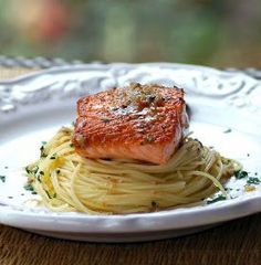 Savoring Time in the Kitchen: Crispy Grilled Salmon with Herbed Garlic Butter The Best Grilled Salmon Recipe Ever, Grilled Salmon Recipes, Easy Salmon Recipes, Fish Recipes, Seafood Recipes, Recipies, Healthy Meals To Cook, Healthy Cooking, Cooking Recipes