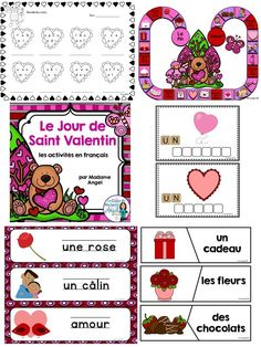 Le jour de saint valentin!  This package has a lot of great literacy activities to teach your students about Valentine's Day in French!
