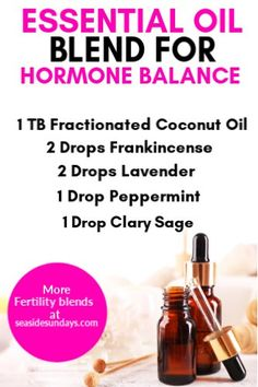 DIY essential oil fertility blend for hormone imbalance! Make your own fertility roller blends with this hormone balancing recipe that is great for improving fertility.Get pregnant quickly with essential oils such as clary sage and frankincense Essential Oils For Fertility, Essential Oils For Headaches, Essential Oils Guide, Essential Oil Diffuser Blends, Essential Oil Uses, Essential Oil Hormone Balance, What Are Essential Oils, Making Essential Oils, Fertility Blend